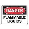 Accuform MCHD09BVA Danger Sign, 7 x 10In, R and BK/WHT, AL, ENG