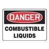 Accuform MCHD55BVP Danger Sign, 7 x 10In, R and BK/WHT, PLSTC
