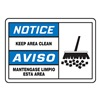 Graphic Alert MSHS802VA Notice Sign, 10 x 14In, BL and BK/WHT, AL