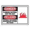 Graphic Alert MSCH004VA Danger Sign, 10 x 14In, R and BK/WHT, AL