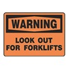 Regusafe MVHR305VA Warning Sign, 10 x 14In, BK/ORN, AL, ENG