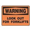 Regusafe MVHR305VA Warning Sign, 10 x 14In, BK/ORN, AL, ENG