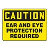 Accuform MPPEC57VS Caution Sign, 10 x 14In, BK/YEL, Self-ADH