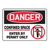 Accuform MCSP014VA Danger Sign, 10 x 14In, R and BK/WHT, AL