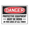 Accuform MPPE127VA Danger Sign, 10 x 14In, R and BK/WHT, AL