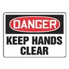 Accuform MEQM050VP Danger Sign, 10 x 14In, R and BK/WHT, PLSTC