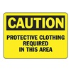 Accuform MPPE405VS Caution Sign, 7 x 10In, BK/YEL, ENG, Text