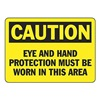 Accuform MPPE426VS Caution Sign, 7 x 10In, BK/YEL, Self-ADH
