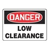 Accuform MEQD03VP Danger Sign, 10 x 14In, R and BK/WHT, PLSTC