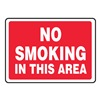 Accuform MSMKG25BVS No Smoking Sign, 7 x 10In, WHT/R, ENG, Text