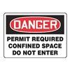 Accuform MCSPD32VA Danger Sign, 10 x 14In, R and BK/WHT, AL