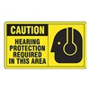 Accuform MPPE410VP Caution Sign, 7 x 10In, BK/YEL, PLSTC, ENG