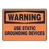 Accuform MELC310VP Warning Sign, 10 x 14In, BK/ORN, PLSTC, ENG
