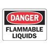 Accuform MCHD09BVP Danger Sign, 7 x 10In, R and BK/WHT, PLSTC