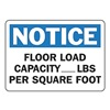 Accuform MCAP804VA Notice Sign, 10 x 14In, BL and BK/WHT, AL
