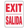 Accuform MSPG14VA Exit Sign, 14 x 10In, R/WHT, AL, Exit/Salida