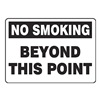 Accuform MSMK943VP No Smoking Sign, 7 x 10In, BK/WHT, PLSTC