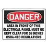 Regusafe MELC002VA Danger Sign, 10 x 14In, R and BK/WHT, AL