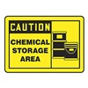 Accuform MCHL642VS Caution Sign, 10 x 14In, BK/YEL, Self-ADH