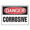 Accuform MCHD85BVS Danger Sign, 7 x 10In, R and BK/WHT, CRSV