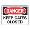 Accuform MABR004VA Danger Sign, 7 x 10In, R and BK/WHT, AL, ENG