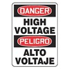 Accuform MSPD14VA Danger Sign, 14 x 10In, R and BK/WHT, AL, HV