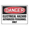 Accuform MELC022VP Danger Sign, 10 x 14In, R and BK/WHT, PLSTC