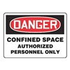 Accuform MCSPD07VS Danger Sign, 10 x 14In, R and BK/WHT, ENG