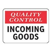 Electromark S1305-V10 Quality Control Sign, 10 x 14In, Vinyl, ENG