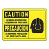 Graphic Alert MSPP615VA Caution Sign, 7 x 10In, BK/YEL, AL, SURF