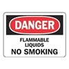 Accuform MCHL149VA Danger No Smoking Sign, 7 x 10In, AL, ENG