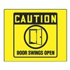 Accuform PSP233 Caution Sign, 8 x 8In, BK/YEL, PS, ENG