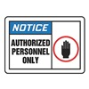 Accuform LADM803VSP Label, Authorized Personnel Only, PK5
