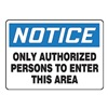 Accuform MADMN08VA Notice Sign, 10 x 14In, BL and BK/WHT, AL