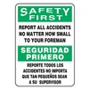 Accuform MSGN900XF Caution Sign, 20 x 14In, BK and GRN/WHT