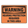 Accuform MPPE316VP Warning Sign, 10 x 14In, BK/ORN, PLSTC, ENG