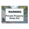 Electromark S1047-A14 Warning Sign, 14 x 20In, BK/WHT, AL, ENG