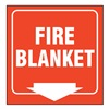 Accuform PSP727 Fire Blanket Sign, 8 x 8In, WHT/R, PS, ENG