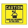 Accuform PSP474 Caution Sign, 8 x 8In, BK/YEL, PS, ENG