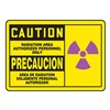 Accuform Signs MSAD602VS Caution Radiation Sign, 10 x 14In, SURF