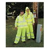 Salisbury NRJ-O-SM Arc Flash Rain Jacket W/Hd, S, HiVis Orng