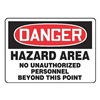 Accuform MADMD10VA Danger Sign, 10 x 14In, R and BK/WHT, AL
