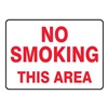Accuform MSMK402VS No Smoking Sign, 7 x 10In, R/WHT, ENG, Text
