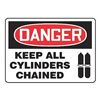 Accuform MCPG027VA Danger Sign, 10 x 14In, R and BK/WHT, AL