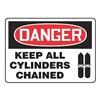Accuform MCPG027VA Danger Sign, 10 x 14In, R and BK/WHT, AL