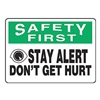 Accuform MGNF959VA Caution Sign, 10 x 14In, BK and GRN/WHT, AL