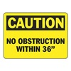Graphic Alert MVHR675VA Caution Sign, 10 x 14In, BK/YEL, AL, ENG