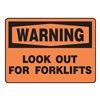 Regusafe MVHR305VS Warning Sign, 10 x 14In, BK/ORN, ENG, Text