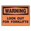 Regusafe MVHR305VS Warning Sign, 10 x 14In, BK/ORN, ENG, Text