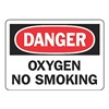 Accuform MCHL074VS Danger No Smoking Sign, 7 x 10In, ENG, Text